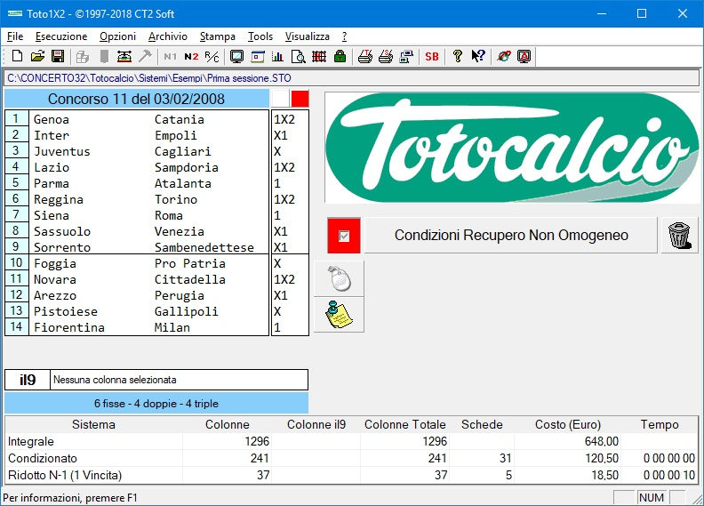 software totocalcio